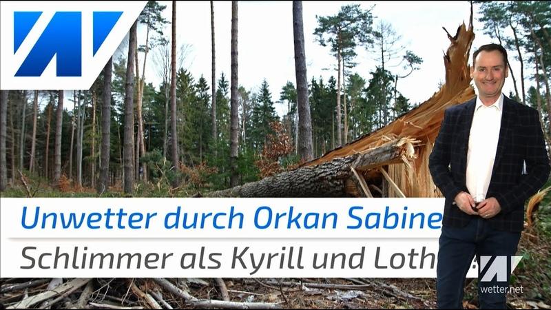 Orkan Sabine schlimmer als Kyrill und Lothar Unwetter dauert lange an und legt Deutschland lahm
