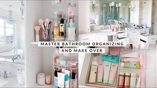 MASTER BATHROOM ORGANIZING & MAKEOVER VLOG!🏔🏠