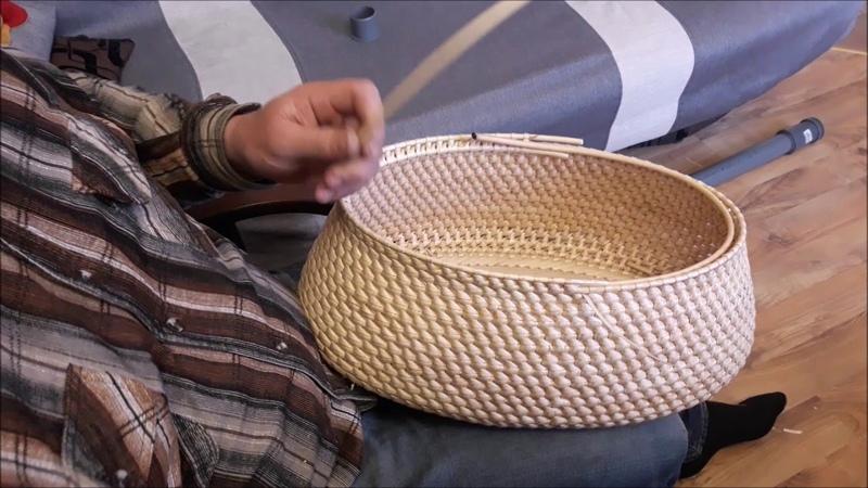 Плетение пикниковой корзины часть1