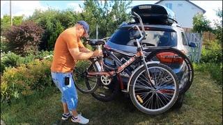 Велокрепление на фаркоп AMOS для перевозки до 3-х велосипедов