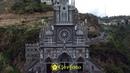 Flying over Las Lajas Sanctuary Volando sobre el Santuario de Las Lajas