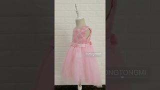 Детское элегантное платье принцессы с цветочным рисунком для девочек; праздничное на свадьбу; одежда