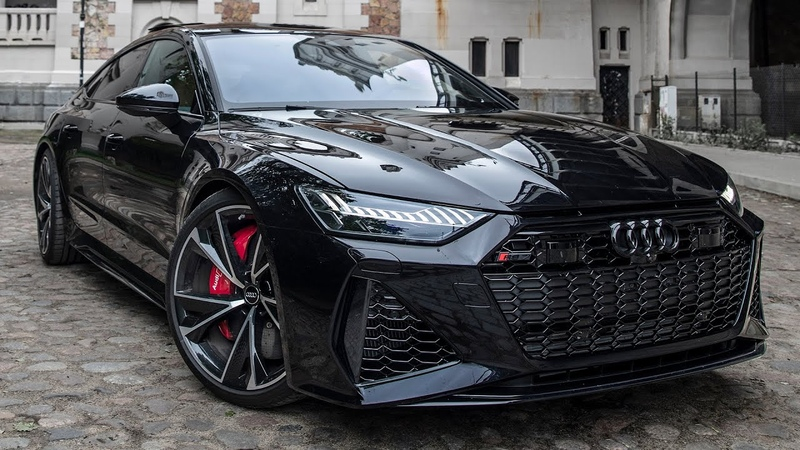 WOW! 2021 AUDI RS7 SPORTBACK MURDERED OUT V8TT BEAST BEST LOOKING AUDI EVER? IN DETAIL