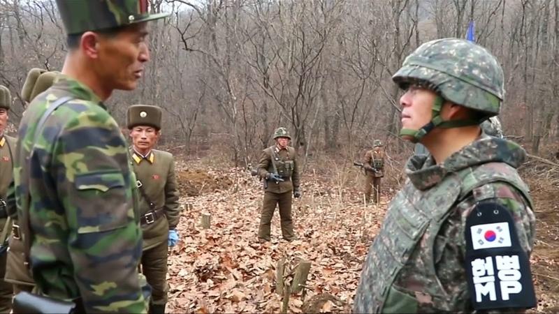Встреча офицеров КНДР и Южной Кореи в демилитаризованной зоне
