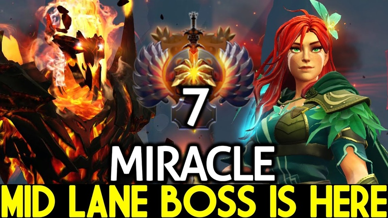 MIRACLE Windranger Shadow Fiend Arcana Mid Lane Boss is Here Dota 2