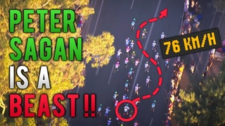 Watch Peter Sagan's Sprints from Above with Trackers