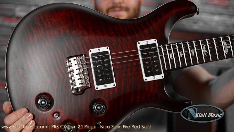 PRS Custom 22 Piezo Nitro Satin Fire Red Burst