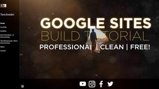 Create a Modern Professional Google Website for FREE! (Filmmaker/Photographer/Artist)