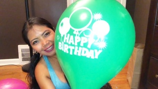 Blow up happy birthday balloons/To all  October celebrant birthday happy birthday to you/
