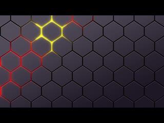 Glowing hexagon magma animated