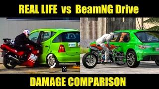 REAL LIFE vs BEAMNG DRIVE CRASHES #2 - Damage & Physics Comparison