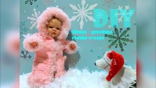 DIY How to sew a fur coat for a mini reborn doll & DIY Как сшить шубку для куклы мини реборн
