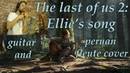 The last of us 2: Ellie's song (True Faith) Guitar fingerstyle and pan-fleute cover
