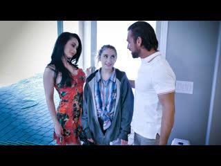 Crystal Rush, Sera Ryder - New Parents Rules (MILF, Teen, Big Tits, Blowjob, Brunette, Threesome, Stepmom, Stepdad)