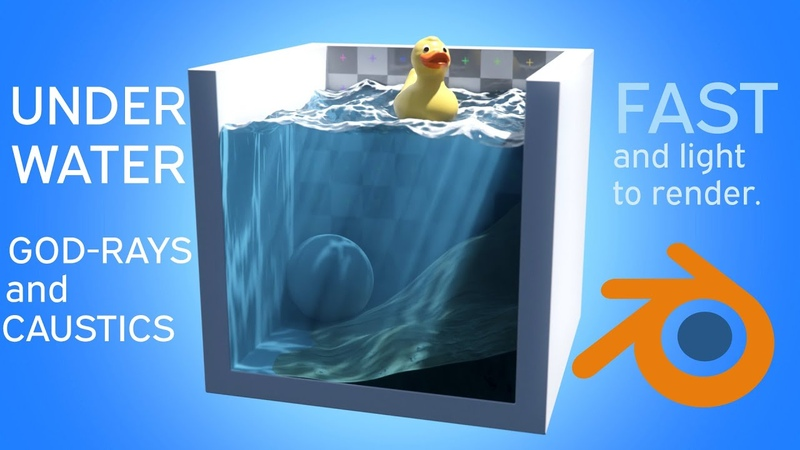 UNDERWATER GODRAYS AND CAUSTICS IN BLENDER FAST TUTORIAL