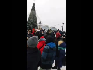 Митинг в поддержку Навального. Липецк,