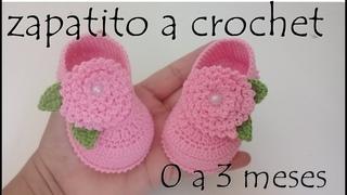 Zapatitos a crochet para bebe - Modelo mary jane - todas las tallas